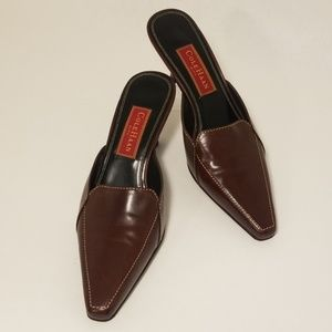 Cole Haan City Brown leather mules/sliders size 8B